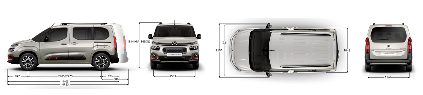 Citroen Berlingo 2019: размеры